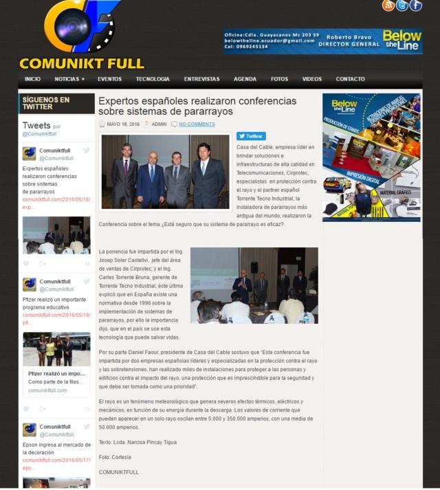 Comuniktfull.com - noticias - 18 de mayo - Casa del cable